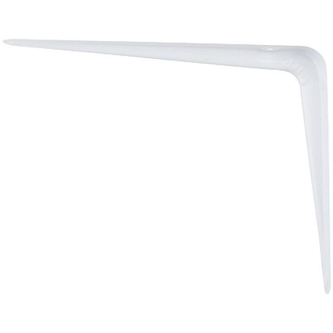 Кронштейн угловой с ребром, 75 х 100 мм, белый Сибртех