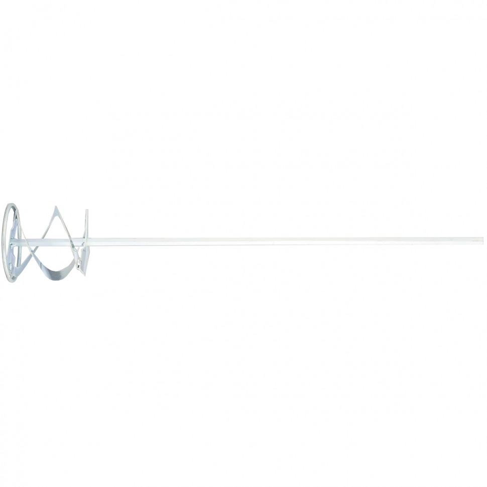 Миксер для красок и штатурных смесей, 100 х 600 мм, оцинкованный, шестигранный хвостовик 10 мм. MATRIX