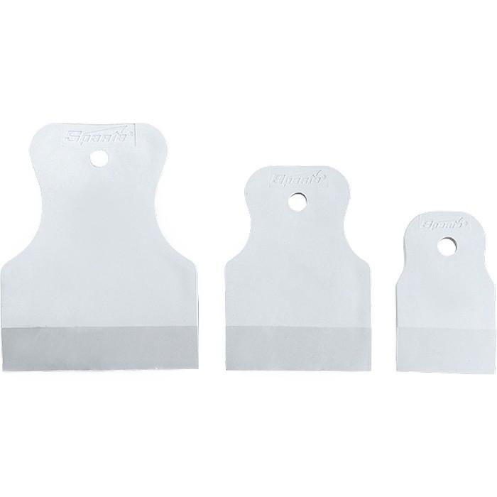 Набор шпателей 40-60-80 мм, белая резина, 3 шт, Россия