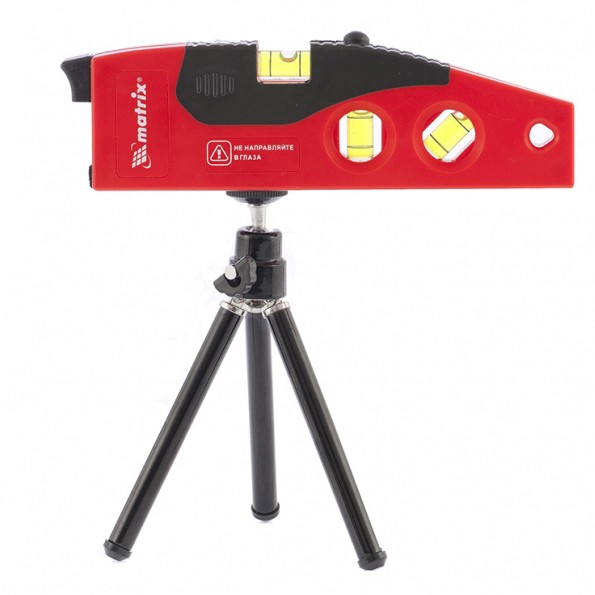 Уровень лазерный, 180 мм, 220 мм штатив, 4 глазка. MATRIX