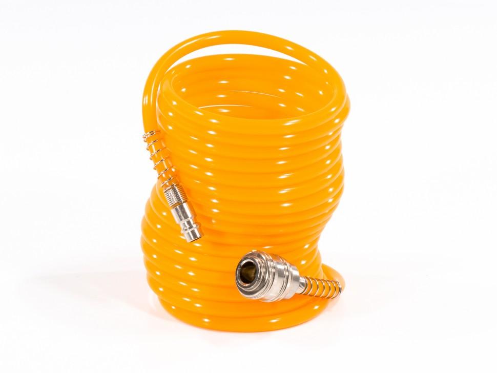 Шланг спиральный воздушный, 5 м, с быстросъемными соединениями. MATRIX