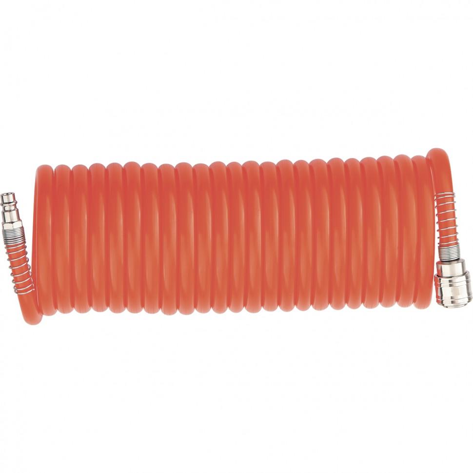 Шланг спиральный воздушный 8 х 12 мм, 18 бар, с быстросъемными соединениями, 15 м. STELS