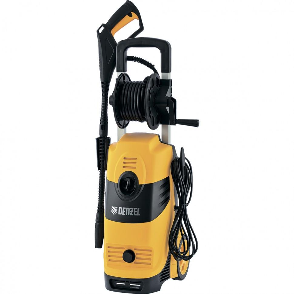 Моечная машина высокого давления HPС-2100, 2100 Вт, 165 бар, 6 л/мин, колесная. DENZEL