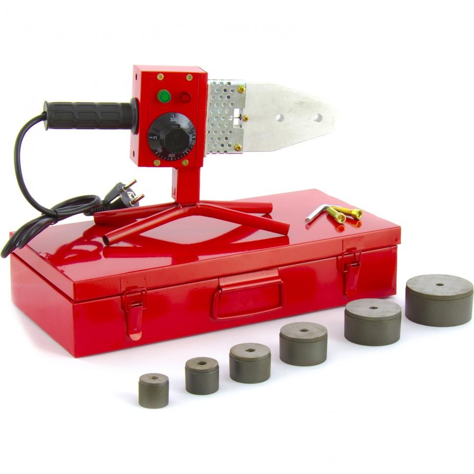 Аппарат для сварки пластиковых труб К W 800, 800 Вт, 300 °C, 20-25-32-40-50-63 мм, металлический кейс. Kron Werk
