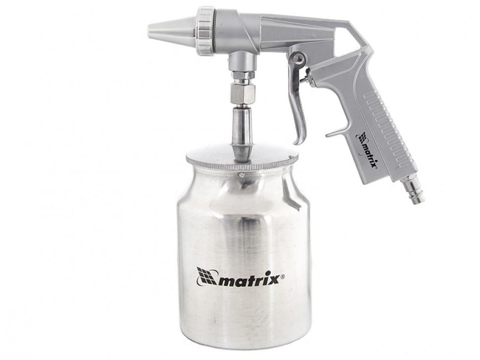Пистолет пескоструйный с нижним бачком, пневматический. MATRIX