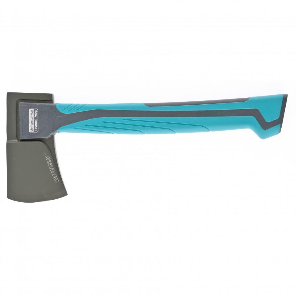 Топор универсальный 700 гр, кованый, тефлоновое покрытие, двухкомпонентное пластиковое топорище, 350 мм. Gross