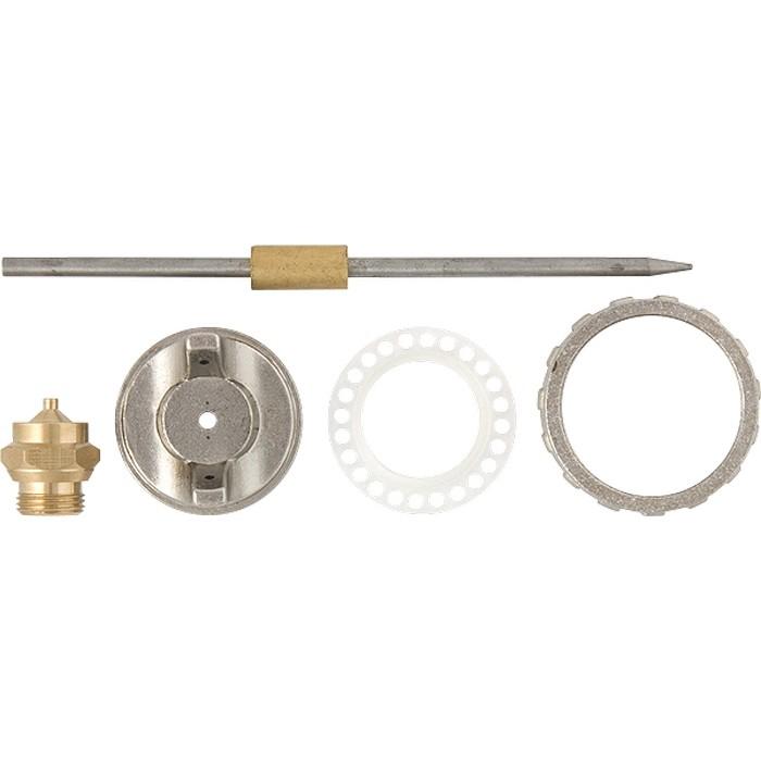 Ремкомплект для краскораспылителя 4 предмета : сопло 1,2 мм + игла + форсунка + зажим сопло. MATRIX