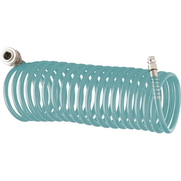 Полиуретановый спиральный шланг профессиональный BASF, 15 м, с быстросъемными соединением. STELS