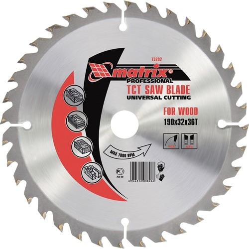 Пильный диск по дереву, 200 х 32 мм, 36 зубьев, кольцо 30/32 Matrix Professional