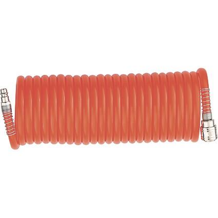 Шланг спиральный воздушный 8 х 12 мм, 18 бар, с быстросъемными соединениями, 10м. STELS