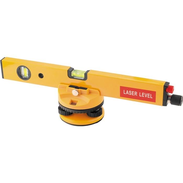 Уровень лазерный, 400 мм, 850 мм штатив, 3 глазка, (база, 2 линзы, очки) пластиковый бокс. MATRIX
