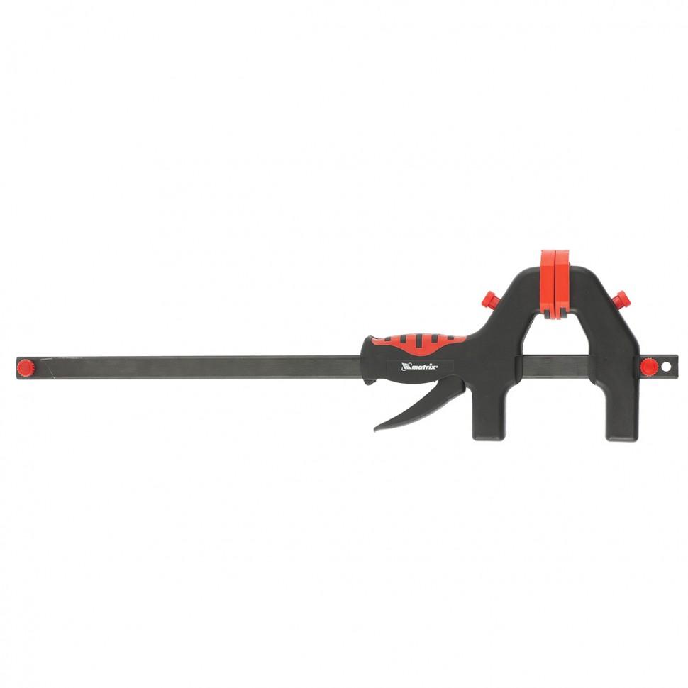 Струбцина универсальная F-образная, 760 х 1065 х 90 мм, пластмассовый корпус. MATRIX