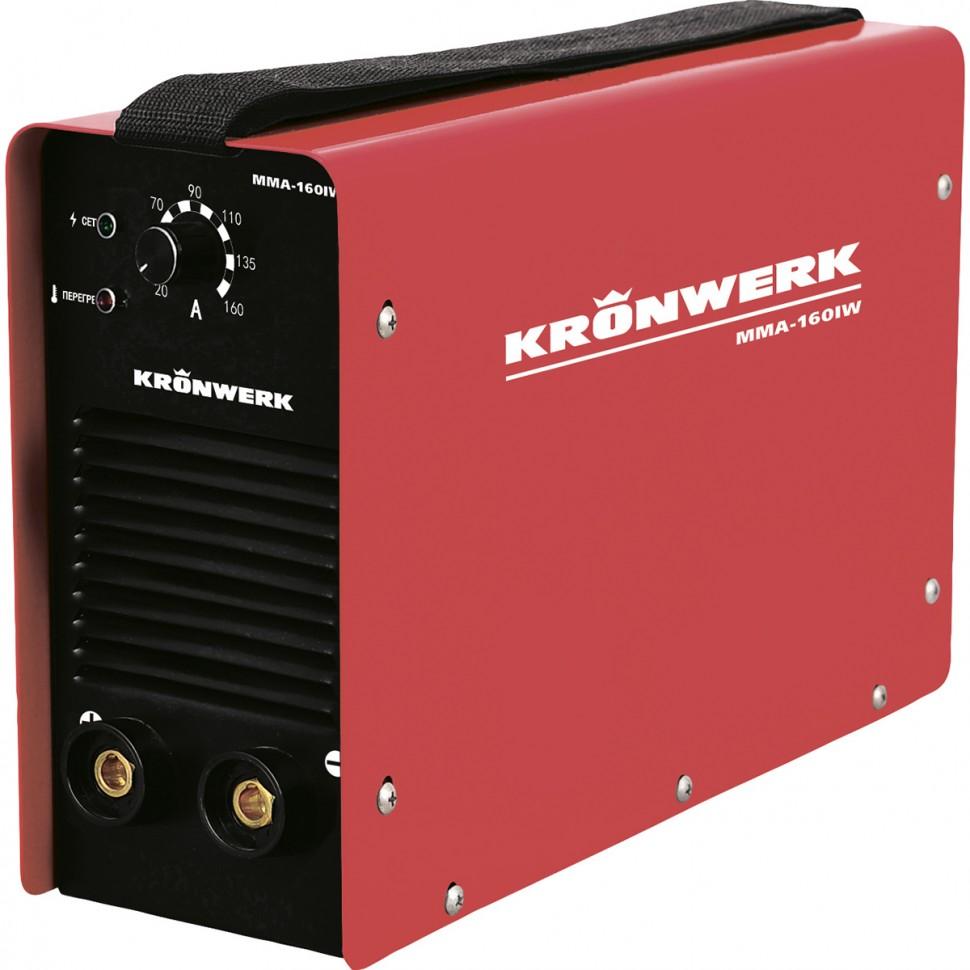 Аппарат инверторный дуговой сварки ММА-180IW, 180 А, ПВР 60%, диаметр электрода 1,6-4 мм, провод 2 м. Kronwerk