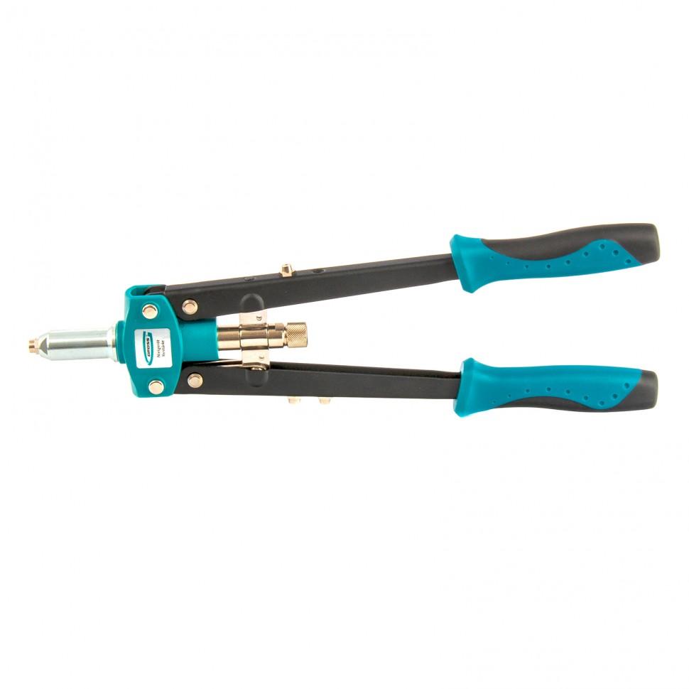 Заклепочник двуручный 420 мм, двухкомпонентные рукоятки, для заклепок 2,4-3,2-4,0-4,8 Gross