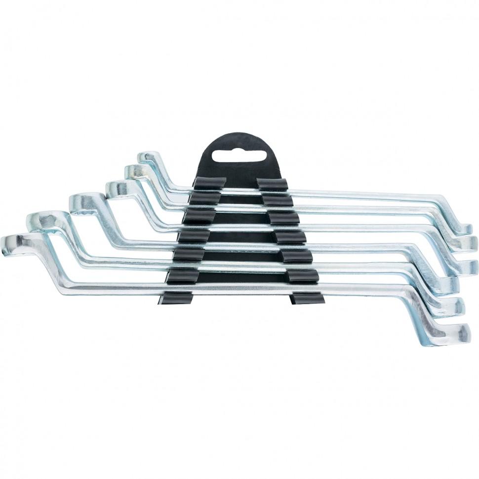 Набор ключей накидных, 6-17 мм, 6 шт, хромированные. SPARTA