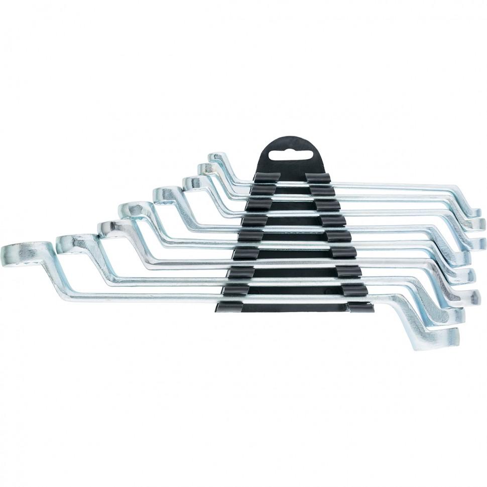 Набор ключей накидных, 6-22 мм, 8 шт, хромированные. SPARTA