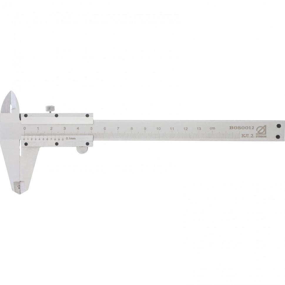 Штангенциркуль, 125 мм, цена деления 0,1 мм, класс 2, ГОСТ 166-89 (Эталон). Россия