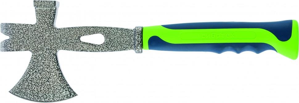 Топор 3 в 1: топор, молоток, гвоздодёр, двухкомпонентная обрезиненная рукоятка. СИБРТЕХ