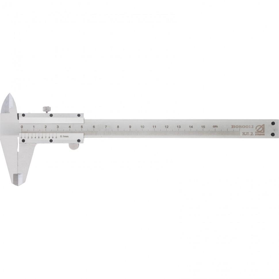 Штангенциркуль, 150 мм, цена деления 0,1 мм, класс 2, ГОСТ 166-89 (Эталон). Россия