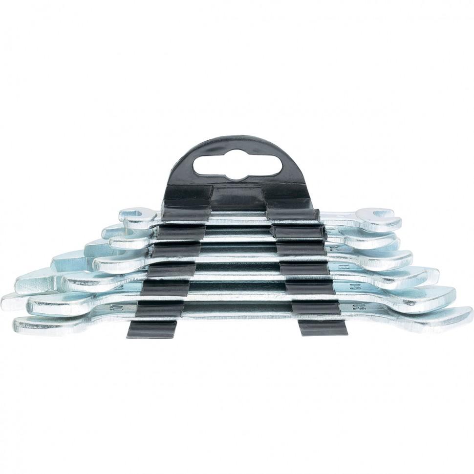 Набор ключей рожковых, 6 х 17 мм, 6 шт, хромированные. SPARTA
