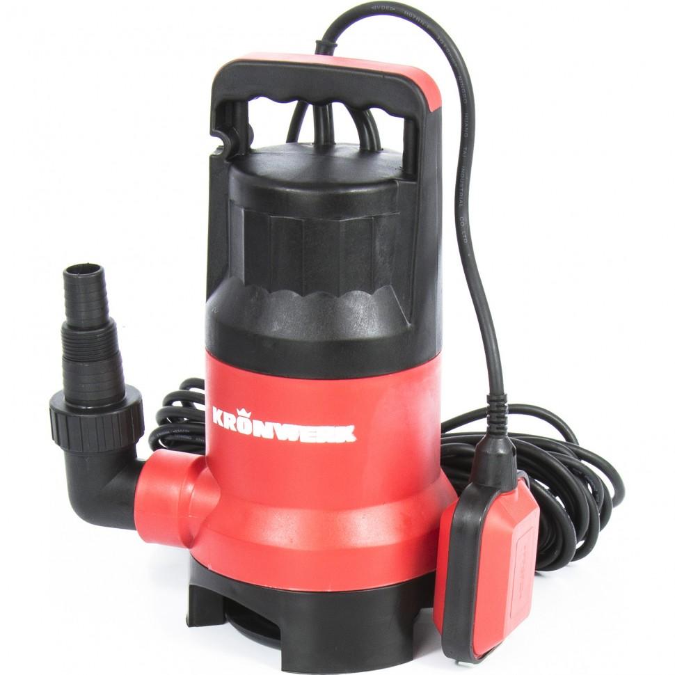 Дренажный насос для грязной воды KP450, 450 Вт, подъем 6,5 м, 8000 л/ч. KRONWERK