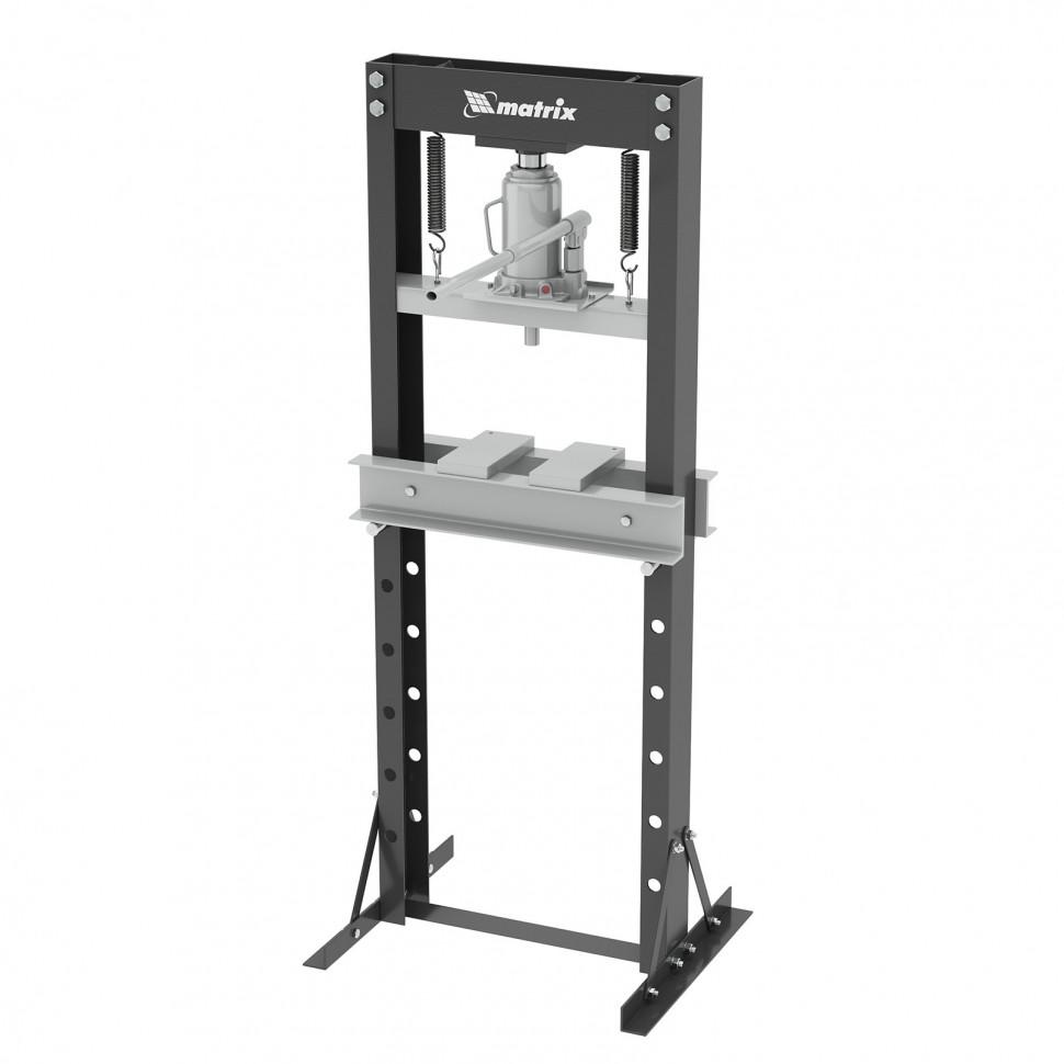 Пресс гидравлический, 20 т, 640 х 540 х 1500 мм. (комплект из 2 частей). MATRIX