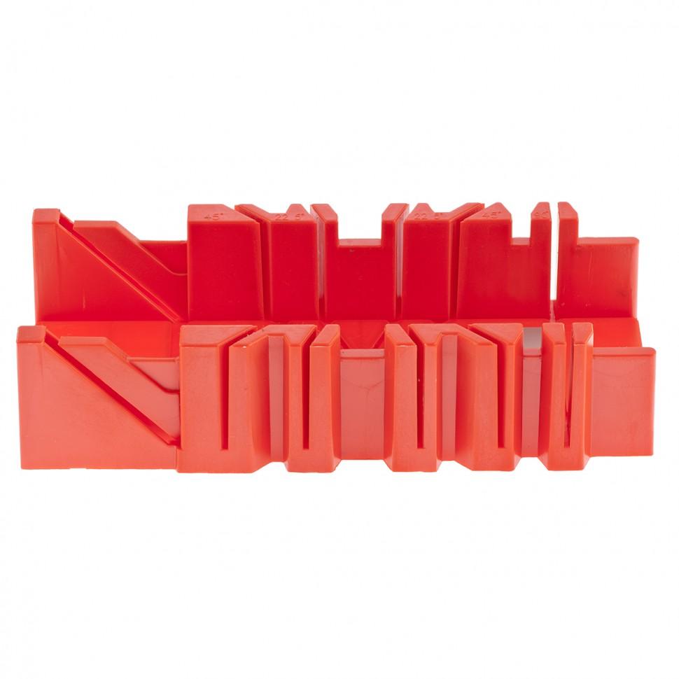 Стусло пластмассовое, 300 х 90 мм, 4 угла для запила. MATRIX