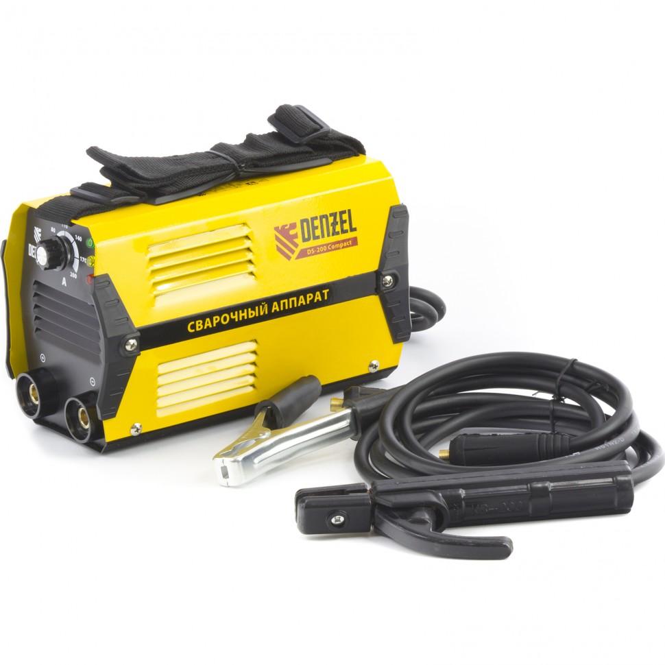 Аппарат инверторный дуговой сварки DS-200 Compact, 200 А, ПВ 70%, диаметр электрода 1,6-5 мм. DENZEL