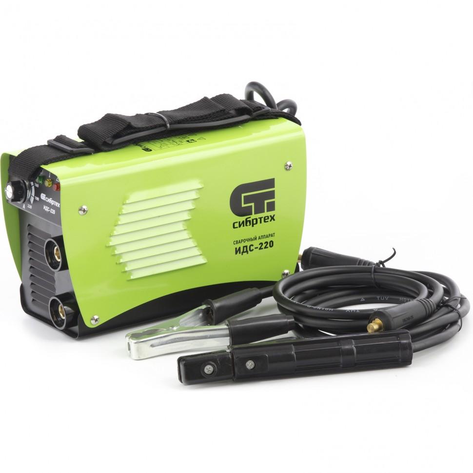 Аппарат инверторный дуговой сварки ИДС-220, 220 А, ПВ 80%, диаметр электрода 1,6-5 мм. СИБРТЕХ