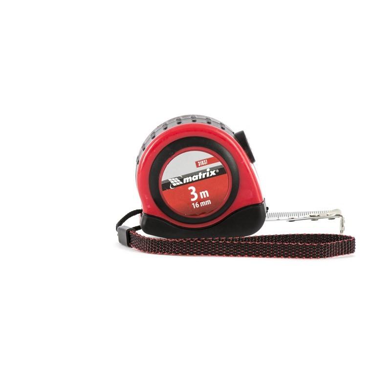 Рулетка Status autostop magnet, 3 м х 16 мм, двухкомпонентный корпус, зацеп с магнитом. MATRIX
