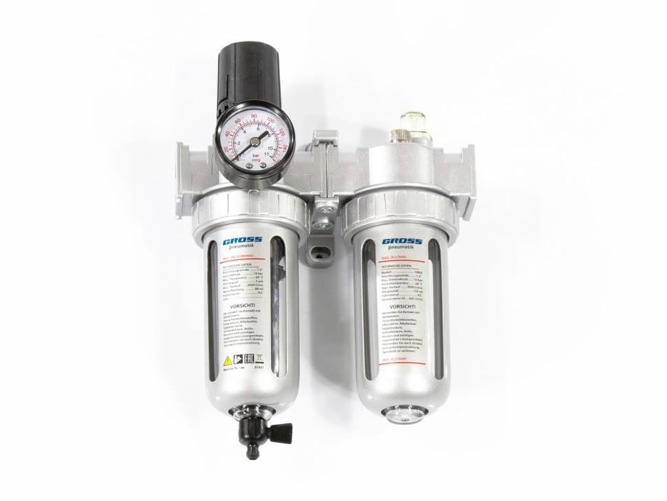 Блок подготовки воздуха регулятор-фильтр-лубрикатор G804, 1/2. GROSS
