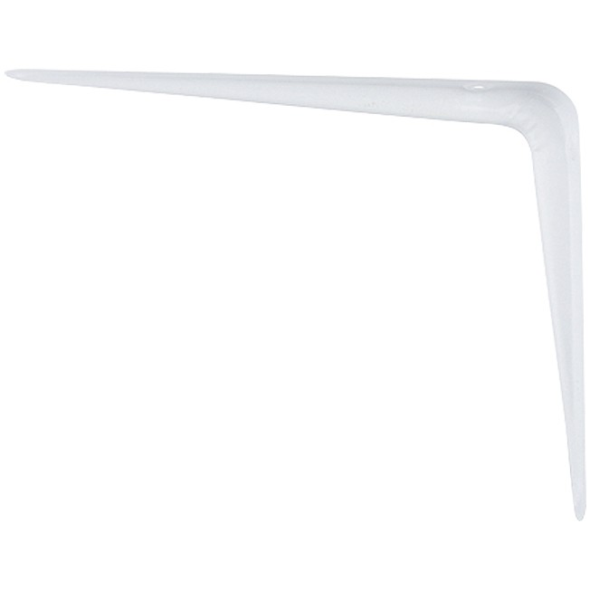 Кронштейн угловой с ребром, 100 х 125 мм, белый Сибртех