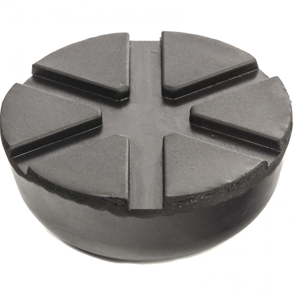 Резиновая опора для подкатного домкрата универсальная, D 89 мм, D 60 мм, H 35 мм. MATRIX