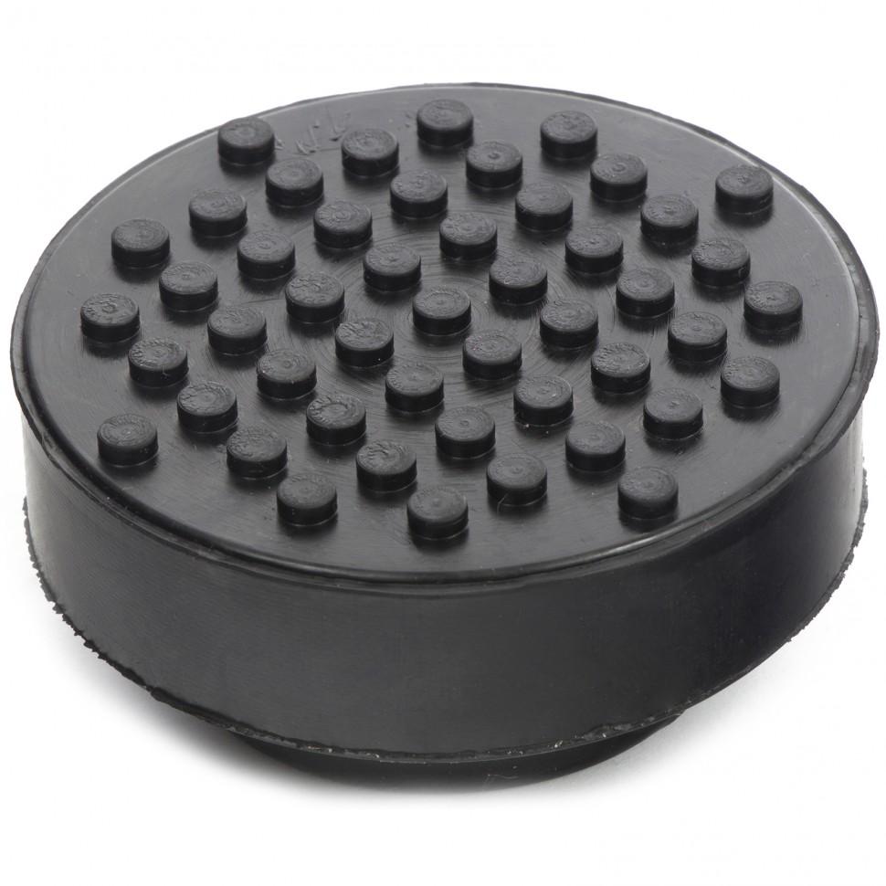 Резиновая опора для подкатного домкрата универсальная, D 72 мм, D 50, H 35 мм. MATRIX