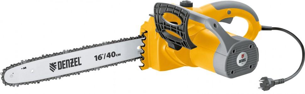 Пила цепная электрическая ELS-2000 с поперечным двигателем 16 (40 см), 13,5  м/с Denzel