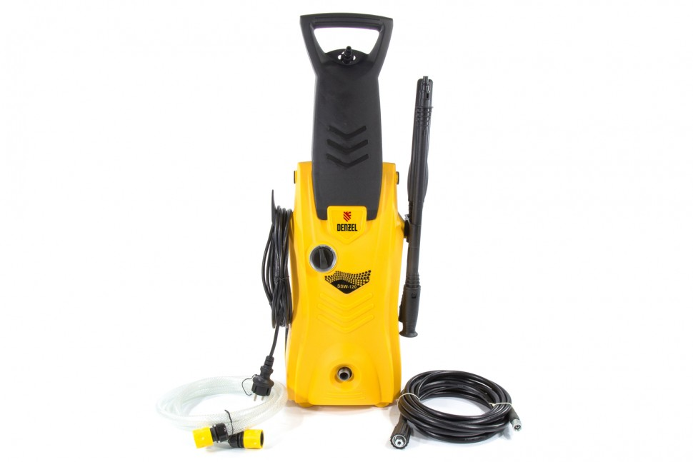 Моечная машина высокого давления SSW120, 1400 Вт, 120 бар, 6 л/мин, самовсасывающая. DENZEL
