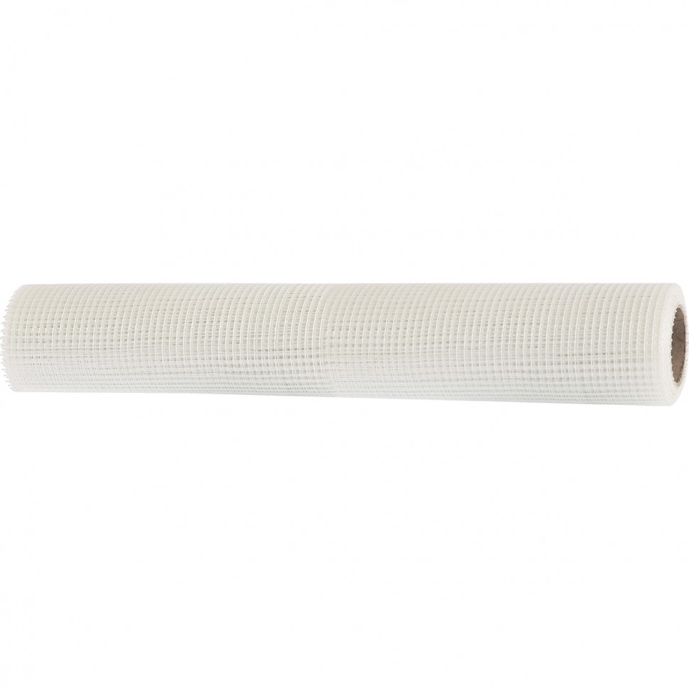 Сетка стеклотканевая штатурная, размер ячеек 5 х 5 мм, 1000 мм х 20 м. MATRIX