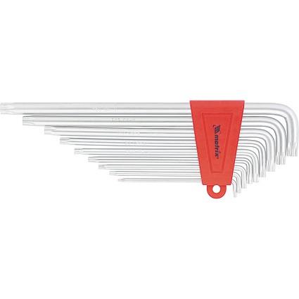 Набор ключей имбусовых TORX, 9 шт, T10-T50, CrV, длинных, с сатиновым покрытием. MATRIX