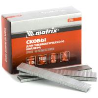 Скобы 18GA для пневматического степлера 1,25х1,0мм длина 19 мм ширина 5,7 мм, 5000 шт. MATRIX