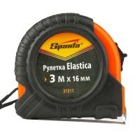 Рулетка Elastica, 3 м х 16 мм, обрезиненный корпус SPARTA