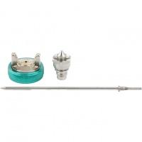 Набор для краскораспылителя AS802HVLP: сопло 1,7мм, игла, чашка Stels