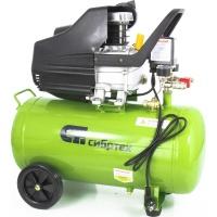 Компрессор воздушный КК-1500/50, 1,5 кВт, 198 л/мин, 50 л, прямой привод, масляный СИБРТЕХ