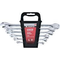 Набор ключей комбинированных, 6 - 17 мм, 6 шт., CrV, полированный хром MATRIX