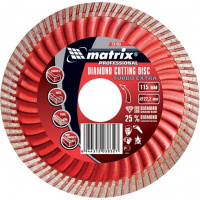 Диск алмазный отрезной Turbo Extra, 180 х 22,2 мм., сухая резка MATRIX Professional