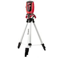 Лазерный уровень ML01T, дальность 10 метров, точность ± 0,5 мм. / 1 м, длина волны 650 нм, проекция 1 вертикальная 1 горизонтальная плоскость, резьба под штатив 5/8