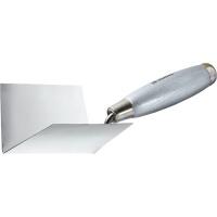 Мастерок из нерж. стали, 80 х 60 х 60 мм, для внутренних углов, деревянная ручка MATRIX