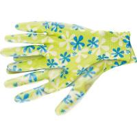 Перчатки садовые из полиэстера с нитриловым обливом, зеленые, L PALISAD