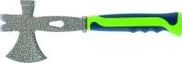 Топор 3 в 1 (топор, молоток, гвоздодёр), двухкомпонентная обрезиненная рукоятка // СИБРТЕХ
