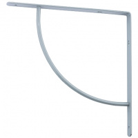 Кронштейн арочный (выгнутый) 150х150х20 мм, серебряный СИБРТЕХ
