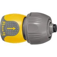 Соединитель для шланга универсальный, аквастоп, двухкомпонентный // PALISAD LUXE